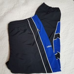 Adidas black/blue wind pants size XL NWT
